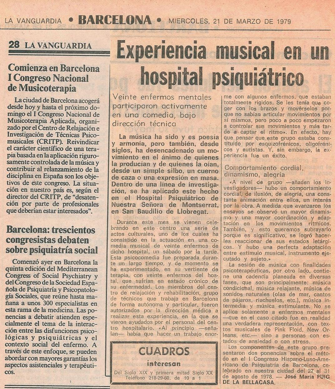 I congreso Musicoterapia