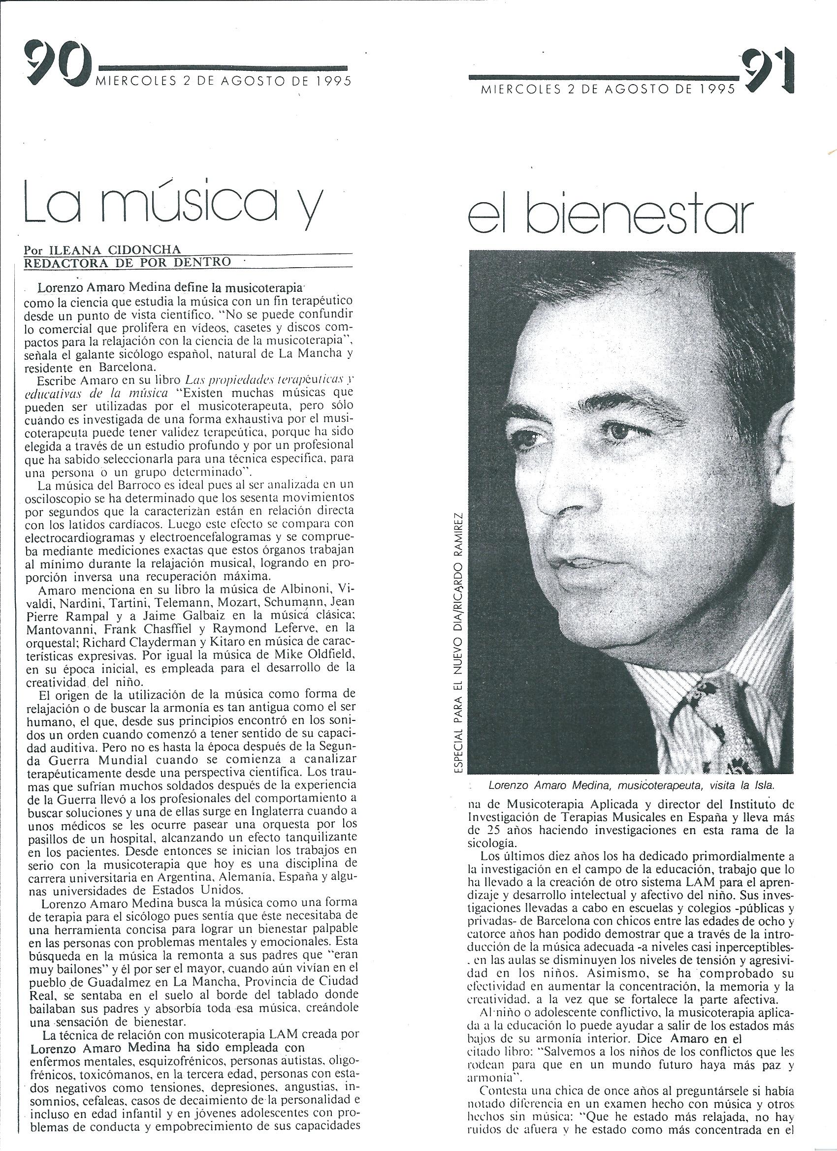 Musica y Bienestar